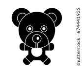 teddy bear icon | Shutterstock .eps vector #674441923