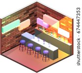 isometric flat 3d isolated... | Shutterstock .eps vector #674447353