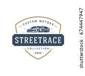 sport car car logo template... | Shutterstock .eps vector #674447947