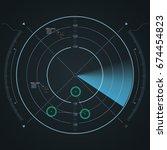 digital radar screen....   Shutterstock .eps vector #674454823