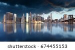 New York Skyline With Brooklyn...