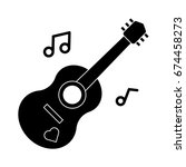 guitar icon | Shutterstock .eps vector #674458273