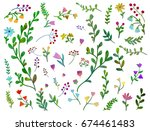 vector set with different... | Shutterstock .eps vector #674461483