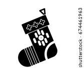christmas sock icon | Shutterstock .eps vector #674461963