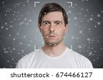 face detection and recognition... | Shutterstock . vector #674466127