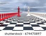 3d illustration  military... | Shutterstock . vector #674470897