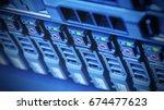hardware of array disk storage...   Shutterstock . vector #674477623