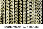 gold chain background 3d render | Shutterstock . vector #674480083