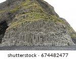 basalt columns texture   Shutterstock . vector #674482477