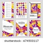 abstract vector layout... | Shutterstock .eps vector #674503117