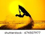 Man Drive Freestyle Jet Ski At...