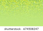 light green  yellow vector... | Shutterstock .eps vector #674508247