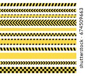 police line and danger tapes | Shutterstock .eps vector #674509663