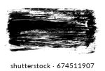 brush stroke and texture. smear ... | Shutterstock . vector #674511907