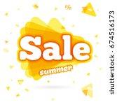 web banner sale summer.  ... | Shutterstock . vector #674516173