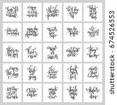 set of 25 hand lettering... | Shutterstock . vector #674526553