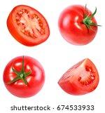 tomato isolated on white... | Shutterstock . vector #674533933