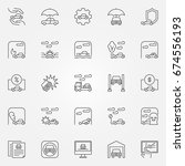 car icons set   vector vehicle...   Shutterstock .eps vector #674556193