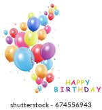 happy birthday card with... | Shutterstock .eps vector #674556943