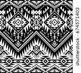 black and white tribal vector... | Shutterstock .eps vector #674571403