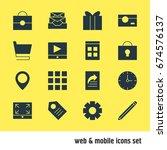 vector illustration of 16... | Shutterstock .eps vector #674576137