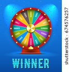 vector fortune wheel 3d object... | Shutterstock .eps vector #674576257