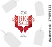 retail sale tags and clearance... | Shutterstock .eps vector #674598583