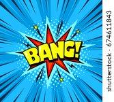 superhero comic book speech... | Shutterstock .eps vector #674611843