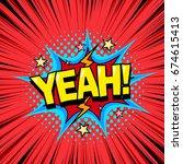 superhero comic book dialog... | Shutterstock .eps vector #674615413