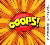 superhero comic book speech... | Shutterstock .eps vector #674616457