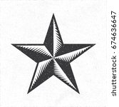 star icon depicting engraving... | Shutterstock .eps vector #674636647