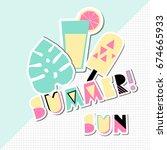 retro typographic summer design ... | Shutterstock .eps vector #674665933