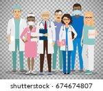 medical team. group of hospital ... | Shutterstock .eps vector #674674807