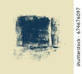grunge banner  carbon texture... | Shutterstock .eps vector #674676097