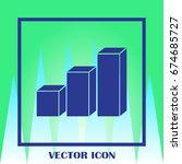 graph icon in trendy flat style....