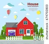 house vector illustration.   Shutterstock .eps vector #674702803
