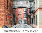 Hidden Alley Scene On Staple...