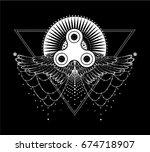 fidget spinner toy   stress and ...   Shutterstock .eps vector #674718907