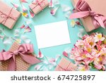 mother's day  valentine's day ... | Shutterstock . vector #674725897