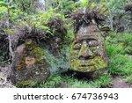 The Stone Face On Floreana...