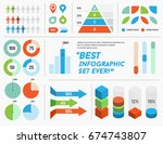 infographics elements and... | Shutterstock . vector #674743807