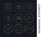 decorative circle frames.... | Shutterstock .eps vector #674744077