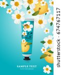 hand cream template for ads or... | Shutterstock .eps vector #674767117