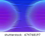 neon lines background with... | Shutterstock .eps vector #674768197