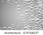 soap bubbles background with... | Shutterstock .eps vector #674768257