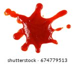 blood spatter isolated on white ... | Shutterstock . vector #674779513