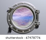 ship porthole looking out to a... | Shutterstock . vector #67478776