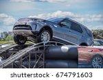 minsk  belarus   july 7  2017   ... | Shutterstock . vector #674791603