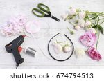 florist at work  how to make... | Shutterstock . vector #674794513