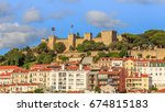 s o jorge castle is a moorish... | Shutterstock . vector #674815183